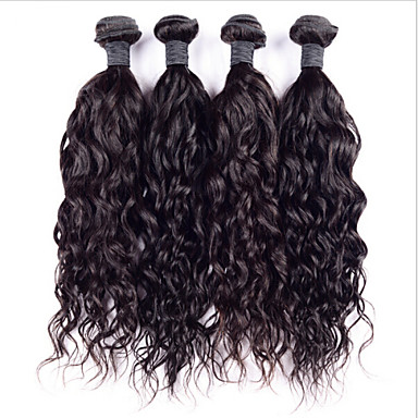 Buy Lot 6A Indian Virgin Hair Water Wave 8 inch-30 inch Super Curly Human Weave