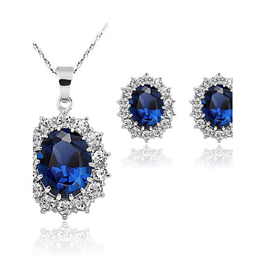 Buy Fashion Sapphire Necklace Jewelry Sets(Set 2)