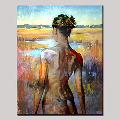 fr nue peinture de beaute peints a la main arriere portrait abstrait moderne l huile toile un panneau avec cadre pret accrocher p