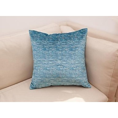 Buy Set 2 Soft Mock Chenille Yarn Decorative Pillow Cushion Cover 18'' x18'', Blue