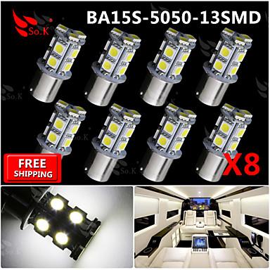 Buy 8x Super Bright White Ba15s 1156 Car Rear Turn Light Signal 13 LED SMD Bulb 12V