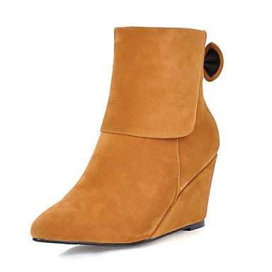 s boots wedge heel fashion ankle boots with bowknot