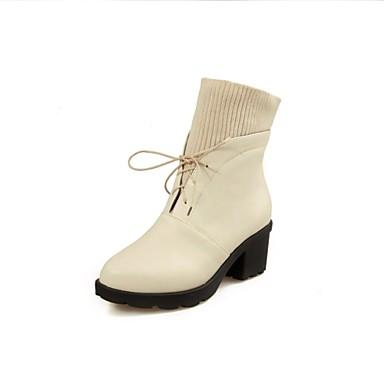 Zapatos de mujer tac n robusto tacones punta redonda - Zapatos de trabajo ...