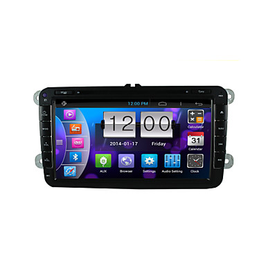 """Buy Android 4.4 GPS Navigation 8 inch""""2007-2015 Volkswagen Motorized Touch Screen Car DVD Player -GPS-BT-FM-3G-WIFI"""