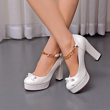 Buy Women's Shoes Heel Heels / Round Toe Outdoor Office & Career Casual Pink Purple White/C-20