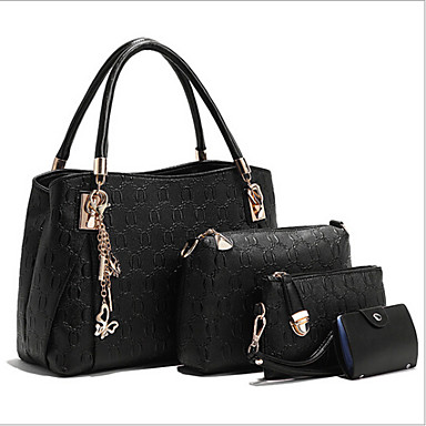 Women PU Casual / Outdoor Tote / Bag Sets White / Blue / Gold / Black