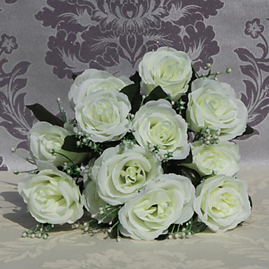 Buy 9 Heads Roses Flowers Silk Flower Artificial Home Decoration 1pc/set