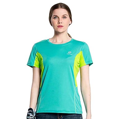 Buy Outdoor Hiking Camping Tectop Women Polyester Short Sleeve T Shirt Quick Drying Breathable Cool Top Tees