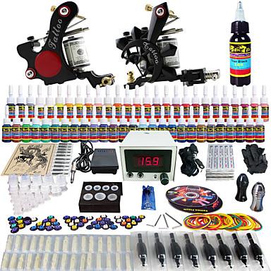Solong tattoo complete tattoo kit 2 pro machine guns 54 for Full tattoo kit