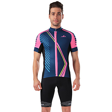 Buy CHEJI Men Sports Biking Comfortable Breathable Short-sleeve Cycling Jersey & Pant 3D Padd