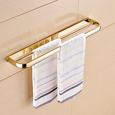 Gold Plated Brass Material Double Towel Bar 4824289 2016