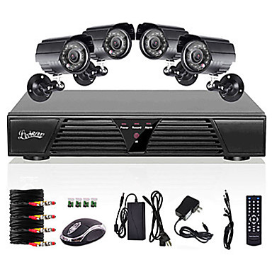 Liview® 8CH Full 960H DVR and 4pcs Outdoor 800TVL Day Night Camera