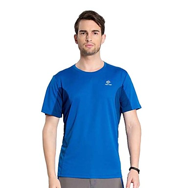 Buy Outdoor Hiking Camping Tectop Men Polyester Short Sleeve T Shirt Quick Drying Breathable Cool Top Tees