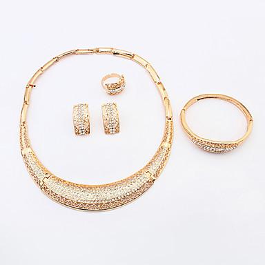 s european fashion simple shiny rhinestone crescent