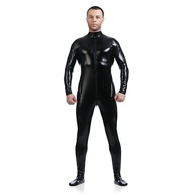Buy Unisex Shiny Zentai Suits Spandex / Metallic Black