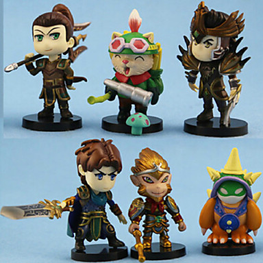 Buy 1 Generation Hero Animation Doll 6 Figure Ornaments Birthday Gift 6PC 10-11cm