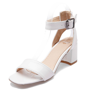s shoes chunky heel open toe sandals dress white