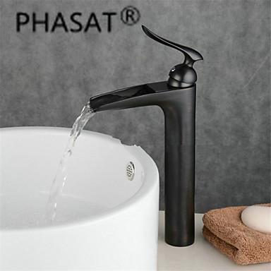 contemporain montage cascade with valve en c ramique mitigeur un trou for bronze huil robinet. Black Bedroom Furniture Sets. Home Design Ideas