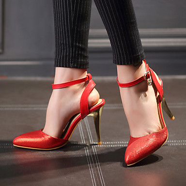 Buy Women's Shoes Heel Heels / Pointed Toe Sandals Office & Career Party Evening Dress Black Red 9722-8