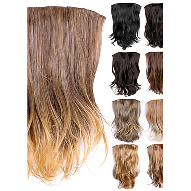 Buy 22 inch130g Long Wavy One piece Instant Synthetic Hair Clip Extensions Women Hairpieces Add Length Curly Wefts