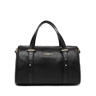 Buy NAWO Women Cowhide Tote Black-N152201