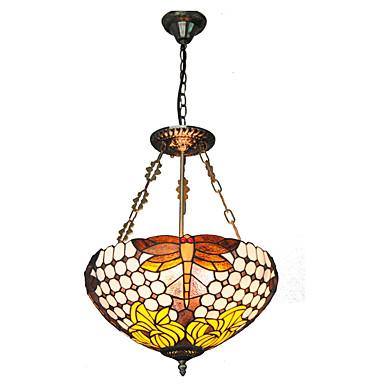 16inch Retro Tiffany Pendant Lights Glass Shade Living Room Dining Room Light