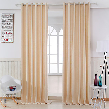 To paneler Window Treatment Moderne , Solid Soverom Lin/ Polyester ...