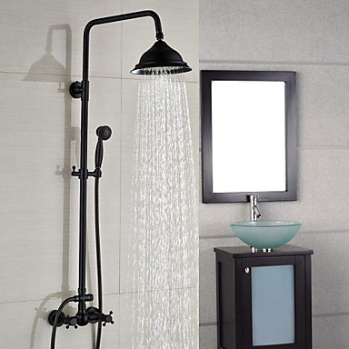 shower faucet contemporary waterfall rain shower handshower included brass chrome 4952400. Black Bedroom Furniture Sets. Home Design Ideas