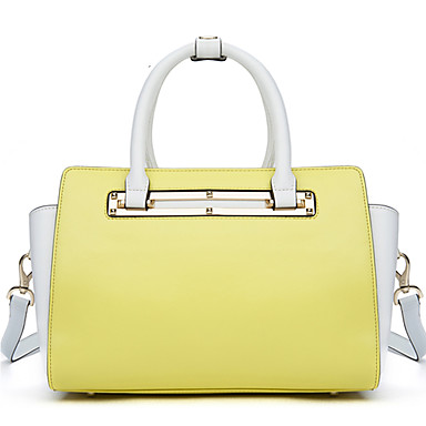 Buy NAWO Women Cowhide Tote Yellow - N236
