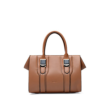 Buy NAWO Women Cowhide Tote Brown-N230