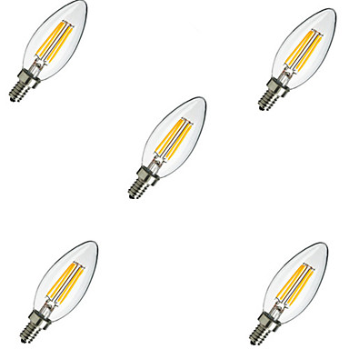 Buy E14 4W 400LM Warm/Cool White 360 Degree Edison Filament Light LED Candle Bulb(220V)