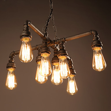 Vintage retro water pipe light chandelier antique classic for Pipe ceiling lighting