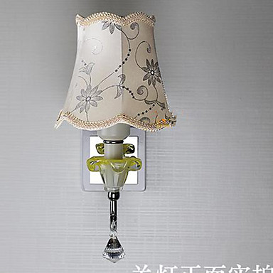 Wall Lamp Shades For Living Room : Crystal Lamp Bedside Cloth Shade Aisle Living Room Wall Lamp 5050321 2016 ? $48.29