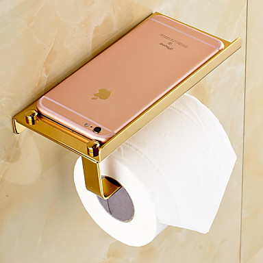 gold plated finishing solid brass material toilet paper