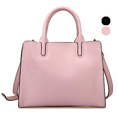 Buy RAFURA Women-Office & Career-Cowhide-Tote-Pink / Black-R0178201