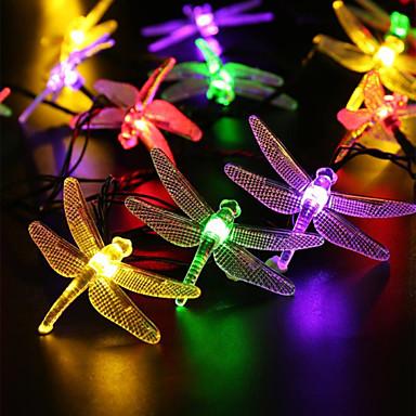 Square Lantern String Lights : Outdoor Solar Led String Light 5M 20 Led Dragonfly Solar Panel Strip Light Waterproof Garden ...