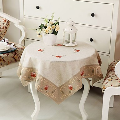 Tablecloth embroidered tablecloth linen tablecloth 33 5 33 for 85 inch tablecloths