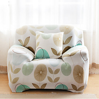 Printed tight all inclusive sofa towel slipcover four for Housse causeuse
