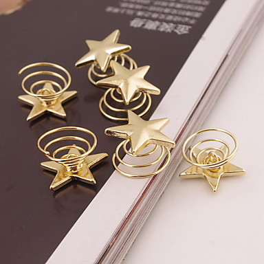 Buy Set 6 Gold Star Shape Hair Clip Tools Lady Casul spiral Screw Clamp Jewelry