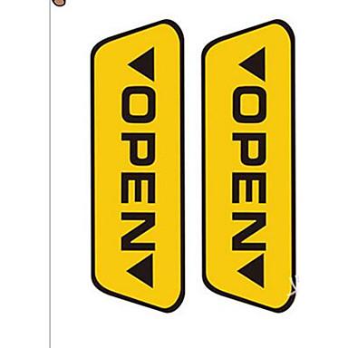 Puerta de seguridad pegatinas de advertencia abierta - Pegatinas para puertas ...