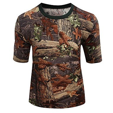 Outdoor sports cotton camouflage summer spring short for Camo fishing shirt