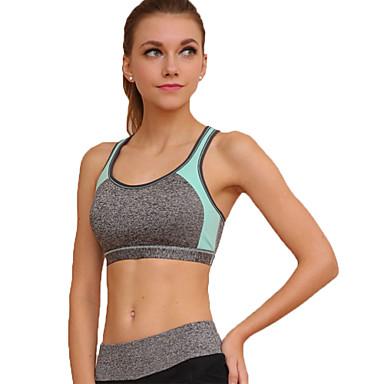 Women's Sexy Sports Bra Wireless Patchwork Underwear ...