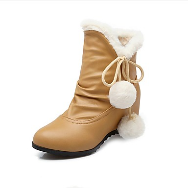 s boots fall winter snow boots pu outdoor dress