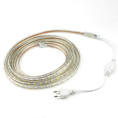Outdoor Plug In Flexible String Lights : 6M/1PCS 220V 5050 LED Flexible Tape Rope Strip Light Xmas Outdoor Waterproof Garden outdoor ...