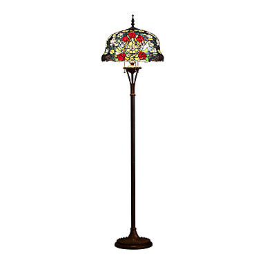 Tiffany floor lamp with 3 lights 5369632 2017 34499 for Boardwalk tiffany floor lamp
