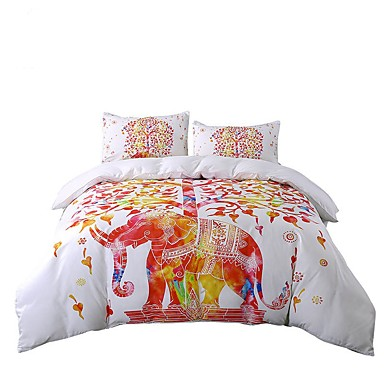 Red Queen Size Bed Set