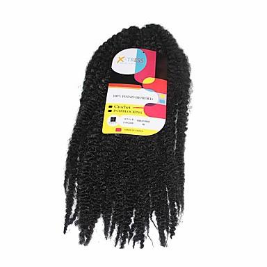 marley braids black 1b synthetic hair crochet braids