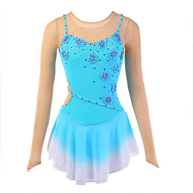 Ice Skating Dress Women's Slings Skating Dresses High Elasticity Figure Skating Dress Breathable / Wearable Flower(s)Spandex / Silk /