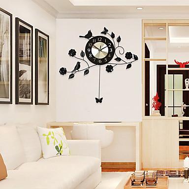 moderne contemporain niches horloge murale autres aluminium m tal 60 58cm int rieur horloge de. Black Bedroom Furniture Sets. Home Design Ideas