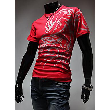 Men's Round Neck Print T-Shirt